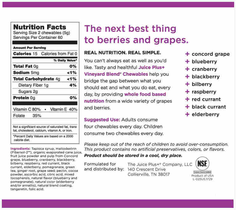 Chewies berry label