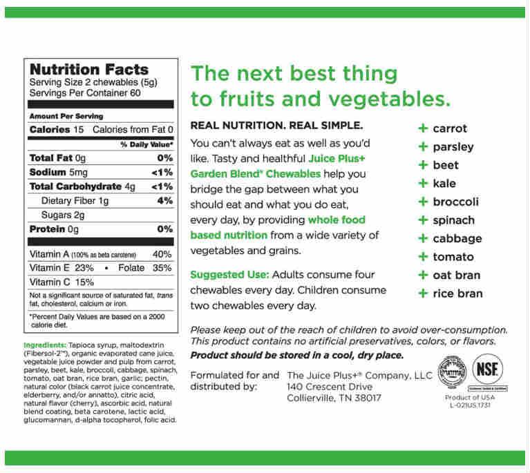 Chewies veg label