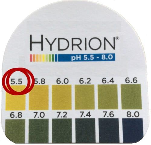 Worst case saliva pH
